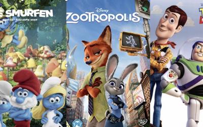 Welke film wordt het: De Smurfen, Toy Story of Zootropolis?