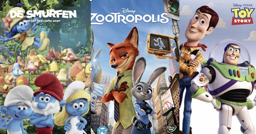 Kinderfilm: De Smurfen En Het Verloren Dorp, Toy Story of Zootropolis?