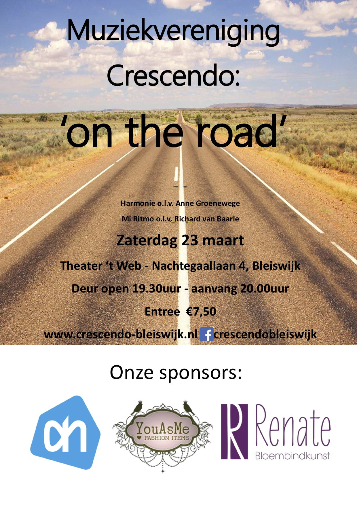 Voorjaarsconcert Crescendo: 'On the road'