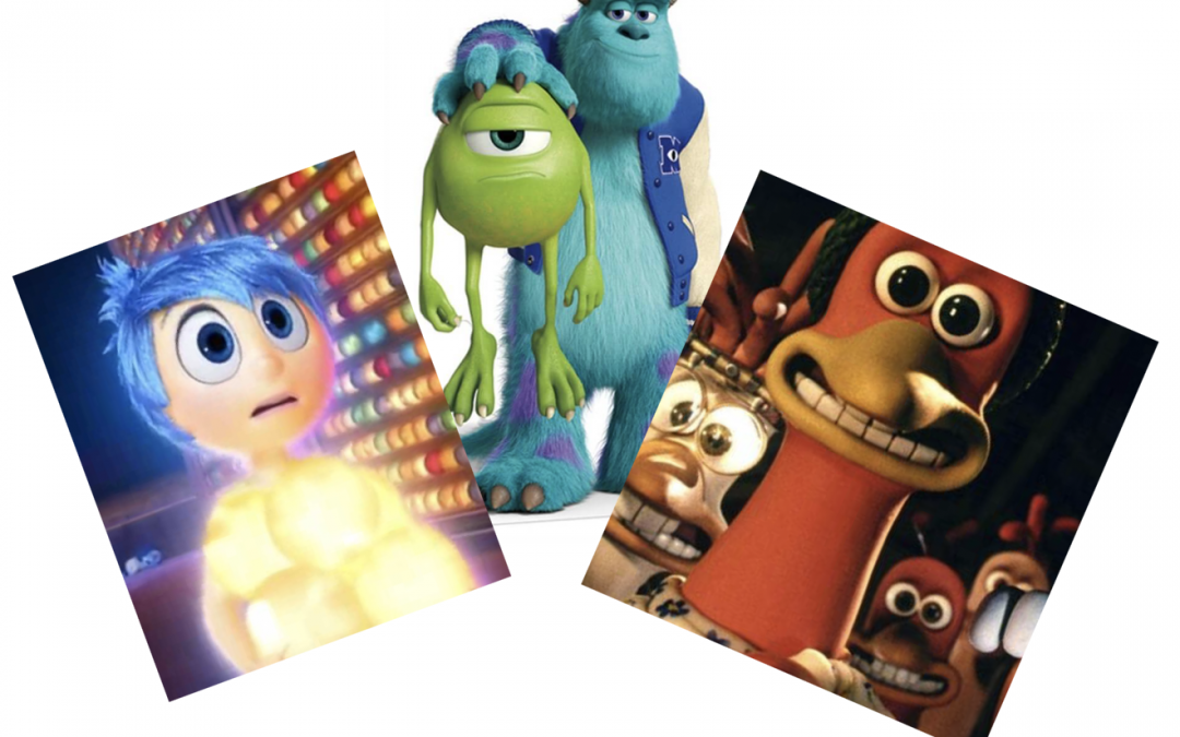 Kinderfilm: Binnenstebuiten, Chicken Run of Monsters University?